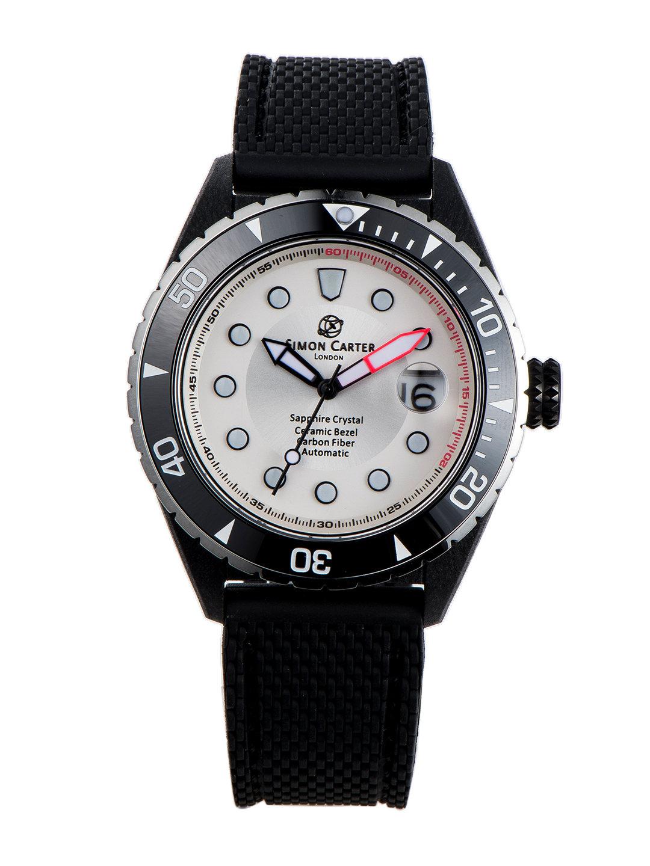 【50%OFF】自動巻き デイト表示 ラバーバンド ウォッチ ホワイト ファッション > 腕時計~~メンズ 腕時計
