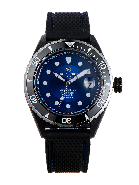 【50%OFF】自動巻き デイト表示 ラバーバンド ウォッチ ブルー ファッション > 腕時計~~メンズ 腕時計