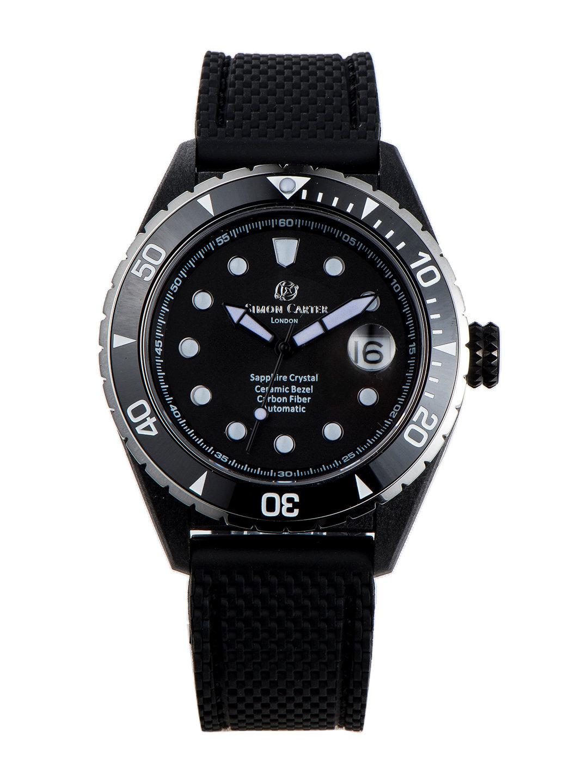 【50%OFF】自動巻き デイト表示 ラバーバンド ウォッチ ブラック ファッション > 腕時計~~メンズ 腕時計