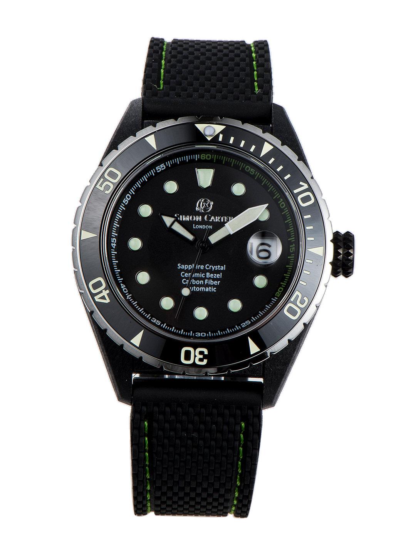 【50%OFF】自動巻き デイト表示 ラバーバンド ウォッチ グリーン ファッション > 腕時計~~メンズ 腕時計