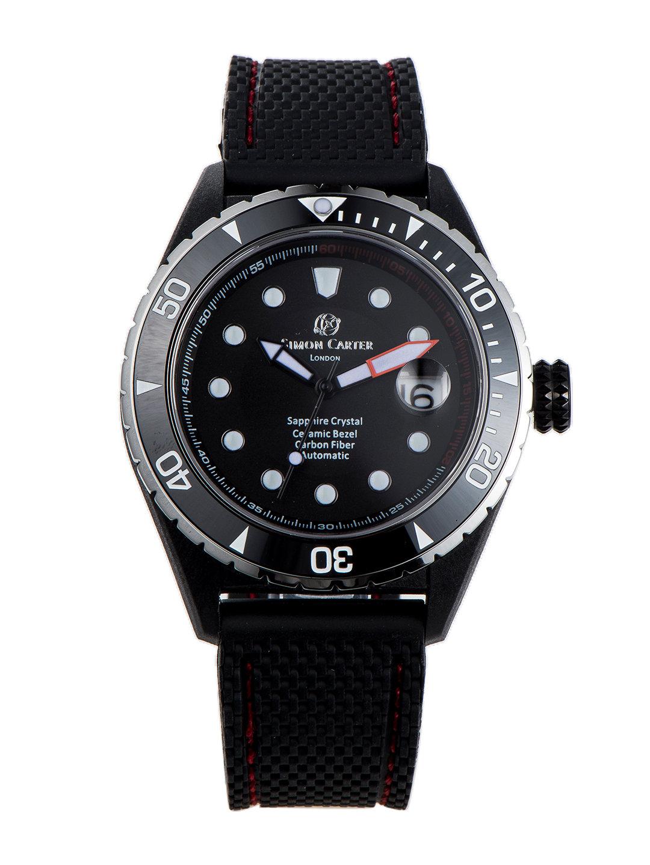 【50%OFF】自動巻き デイト表示 ラバーバンド ウォッチ レッド ファッション > 腕時計~~メンズ 腕時計