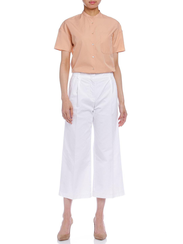 【60%OFF】タック ガウチョパンツ ホワイト 36 ファッション > レディースウエア~~パンツ