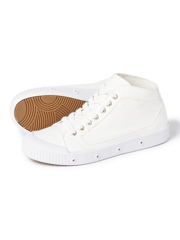 【60%OFF】M2 レザーラムスキン ミッドカットスニーカー ホワイト 38 ファッション > 靴~~レディースシューズ