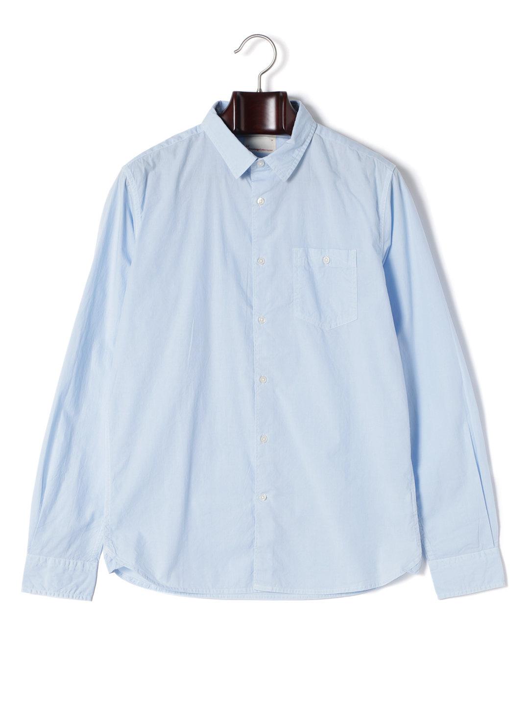 【62%OFF】ガーメントダイ ワンポケット 長袖シャツ スカイウェイ m ファッション > メンズウエア~~その他トップス