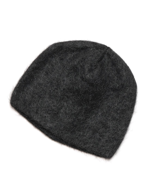 【71%OFF】モヘヤ混 ニットキャップ チャコール xs ファッション > 帽子~~メンズ 帽子