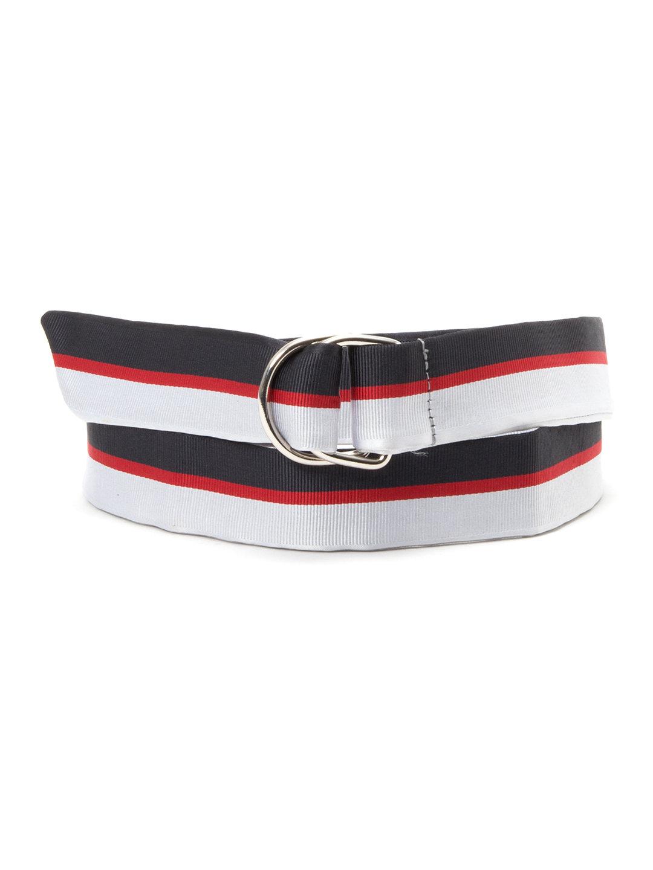 【70%OFF】Cheshire ラインデザイン ベルト ネイビーxレッドxホワイト l ファッション > ファッション小物~~ベルト~~メンズ ベルト