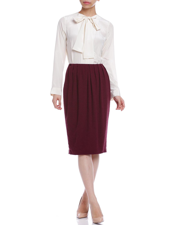 【50%OFF】デザインタック スカート ワインレッド l ファッション > レディースウエア~~スカート