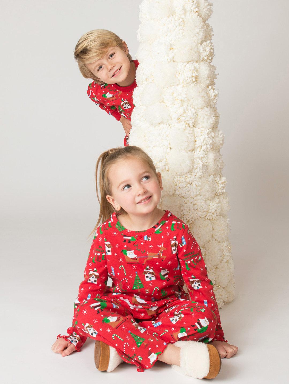 【54%OFF】フリル プリント パジャマ レッドクリスマス 3 ベビー用品 > 衣服~~ベビー服