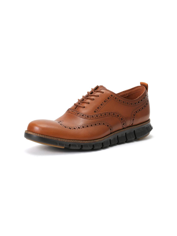 【40%OFF】ZEROGRAND WNGOX CLII ウイングチップ シューズ ブリティッシュタン 9.5 ファッション > 靴~~メンズシューズ