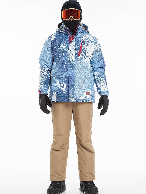 【30%OFF】ジャケット & パンツ スキーウエア セット ブルーマルチ m ファッション > メンズウエア~~ジャケット