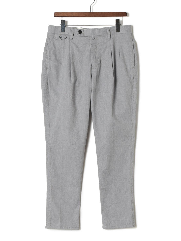 【60%OFF】ツータック センタープレス パンツ ライトグレー l ファッション > メンズウエア~~パンツ
