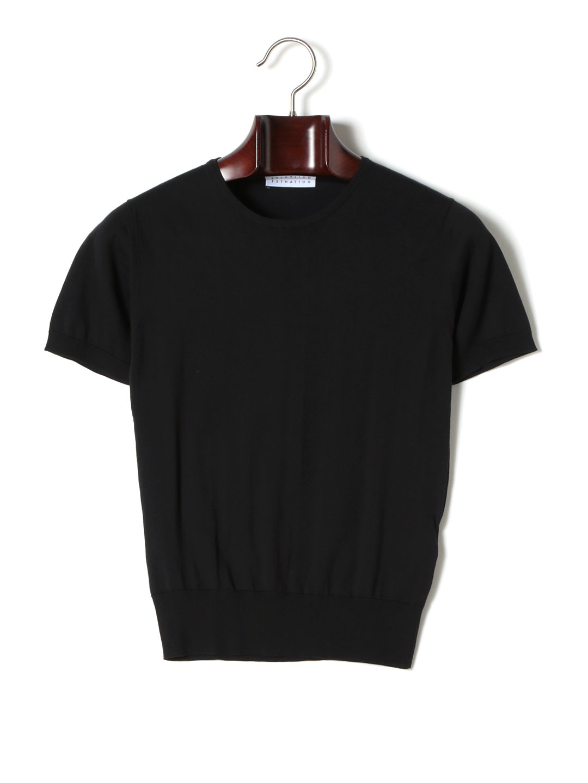 【60%OFF】ESTNATIONxGEMMA クルーネック 半袖トップ ブラック s ファッション > メンズウエア~~その他トップス