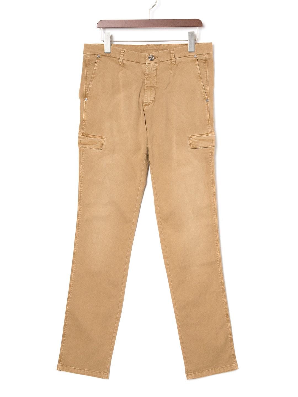 【70%OFF】ウォッシュ加工 カーゴ風パンツ オーカー 46 ファッション > メンズウエア~~パンツ