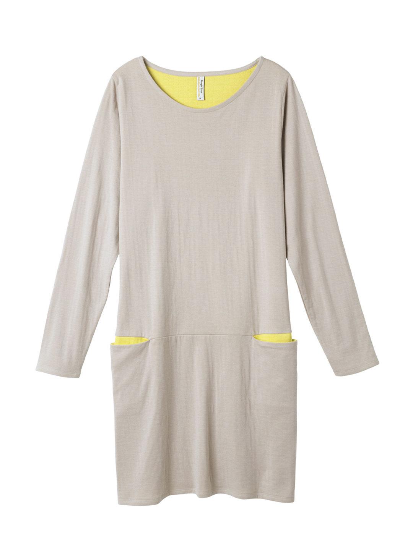 【50%OFF】オーガニックコットン ダブルガーゼ+C17 チュニックドレス ベージュ m ファッション > レディースウエア~~ワンピース