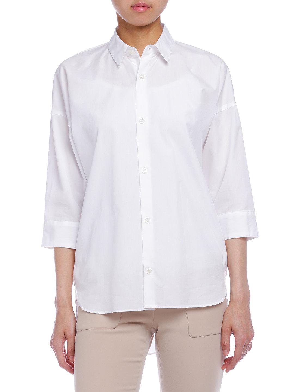 【60%OFF】ESTNATION 七分袖 ベーシックシャツ オフホワイト 38 ファッション > レディースウエア~~その他トップス