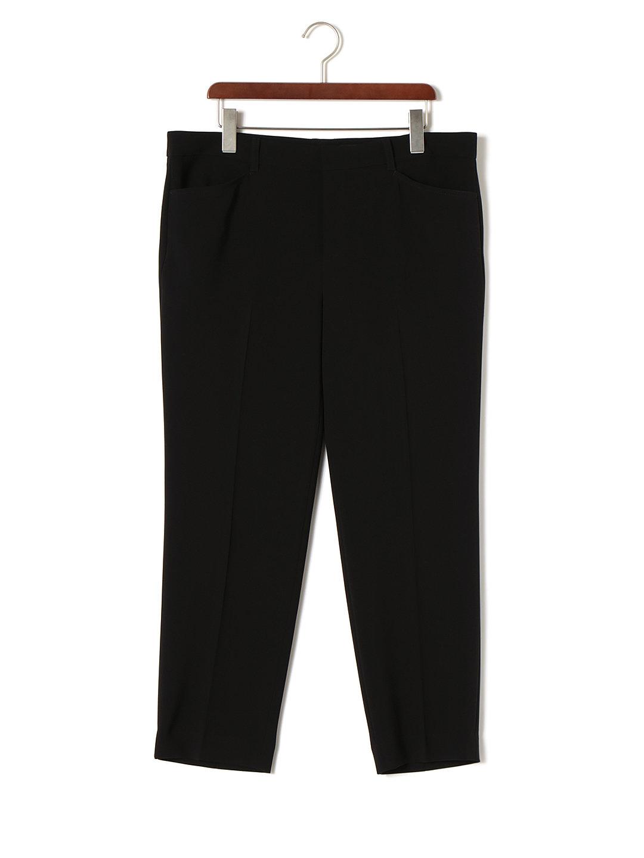 【85%OFF】センタープレス パンツ ブラック 44 ファッション > レディースウエア~~パンツ