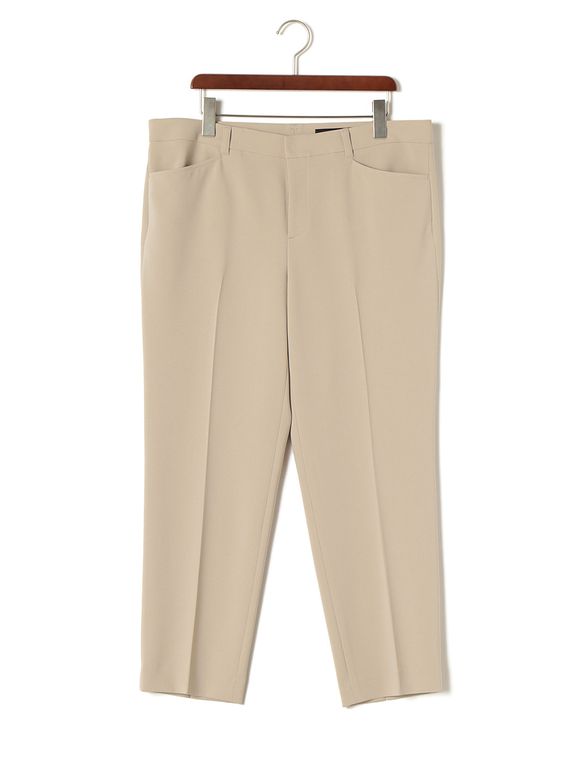 【85%OFF】センタープレス パンツ グレージュ 44 ファッション > レディースウエア~~パンツ