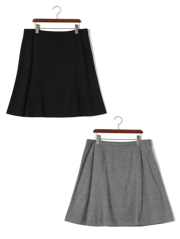 【85%OFF】フレアスカート 2色セット グレー&ブラック 48 ファッション > レディースウエア~~スカート