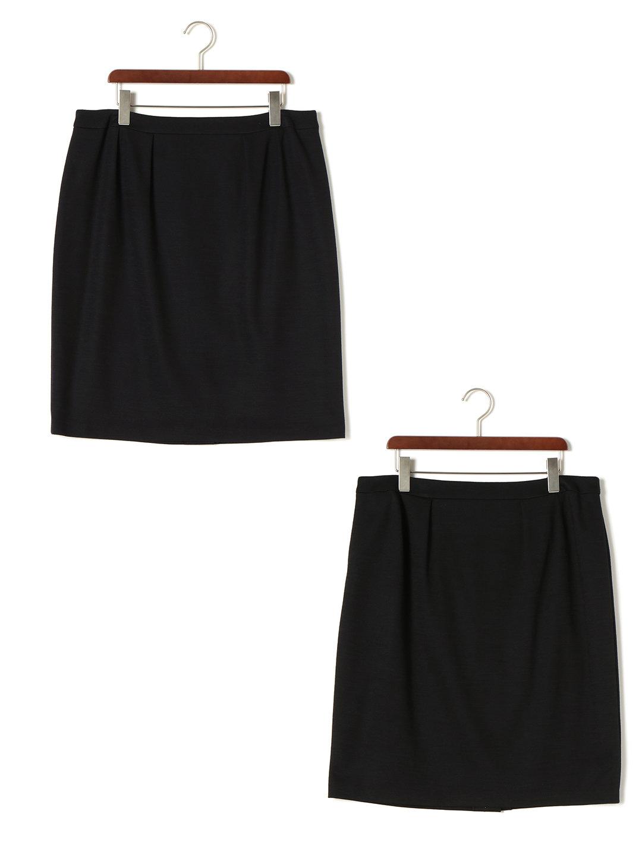 【85%OFF】バックジップ タックスカート 2点セット ブラック&ブラック 48 ファッション > レディースウエア~~スカート