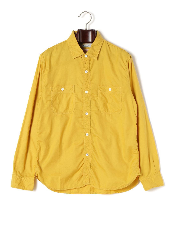 【50%OFF】ダブルポケット 長袖ワークシャツ マスタード 3 ファッション > メンズウエア~~その他トップス