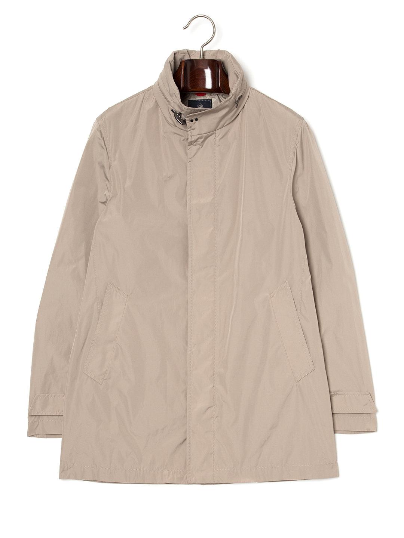 【78%OFF】スタンドカラー 比翼 コート ライトベージュ s ファッション > メンズウエア~~ジャケット