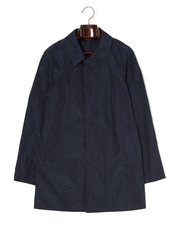 【72%OFF】ステンカラー 比翼 コート ネイビー m ファッション > メンズウエア~~ジャケット