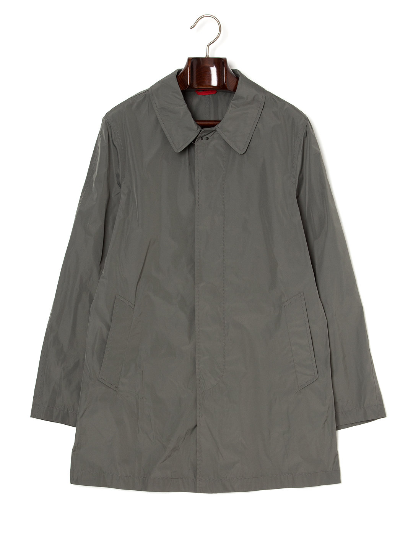 【71%OFF】ステンカラー 比翼 コート カーキ l ファッション > メンズウエア~~ジャケット