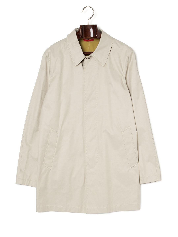 【75%OFF】ステンカラー 比翼 コート ライトベージュ l ファッション > メンズウエア~~ジャケット