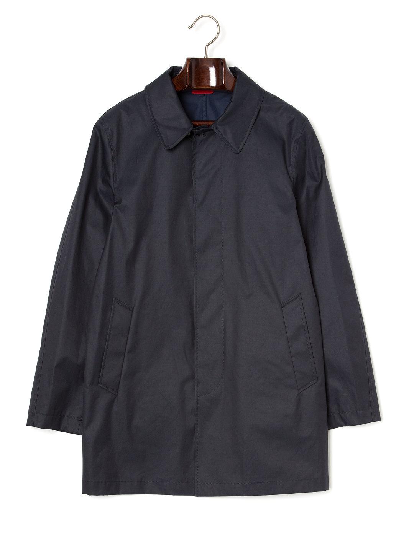 【75%OFF】ステンカラー 比翼 コート ネイビー l ファッション > メンズウエア~~ジャケット