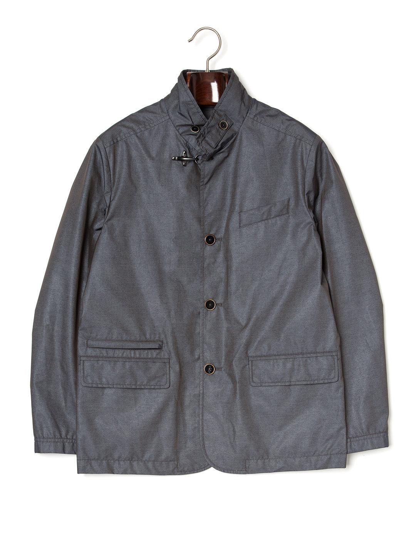 【74%OFF】スタンドカラー コート ダークグレー m ファッション > メンズウエア~~ジャケット