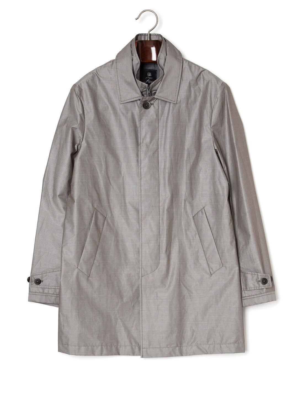 【77%OFF】ステンカラー 比翼 コート ライトグレー l ファッション > メンズウエア~~ジャケット