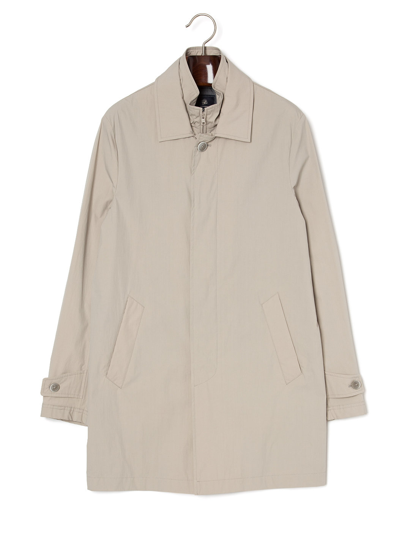 【75%OFF】ジップレイヤード ステンカラー 比翼 コート ライトベージュ l ファッション > メンズウエア~~ジャケット