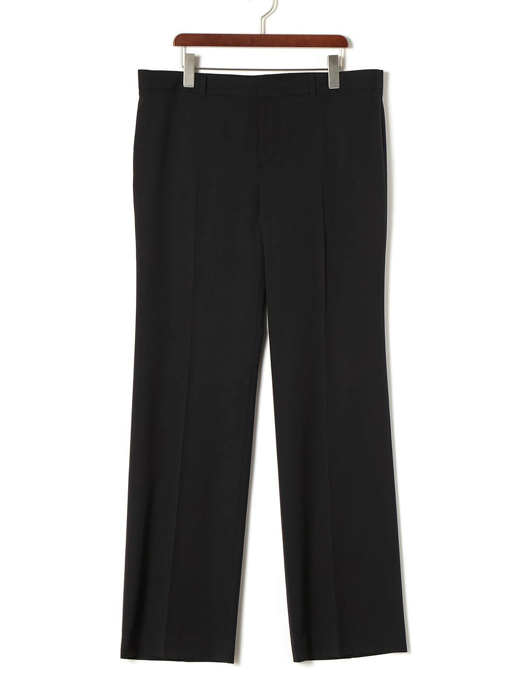 【85%OFF】センタープレス ストレートパンツ ネイビー 46 ファッション > レディースウエア~~パンツ