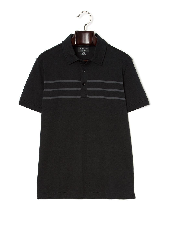 【80%OFF】トリプルライン 半袖ポロシャツ ブラック/ダークグレー s ファッション > メンズウエア~~その他トップス