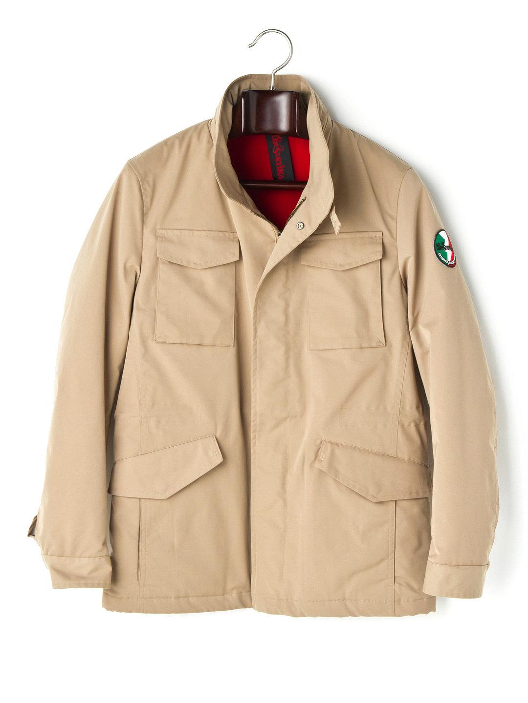 【80%OFF】M-65タイプ 比翼フルジップ フーデッド ジャケット ベージュ l ファッション > メンズウエア~~ジャケット