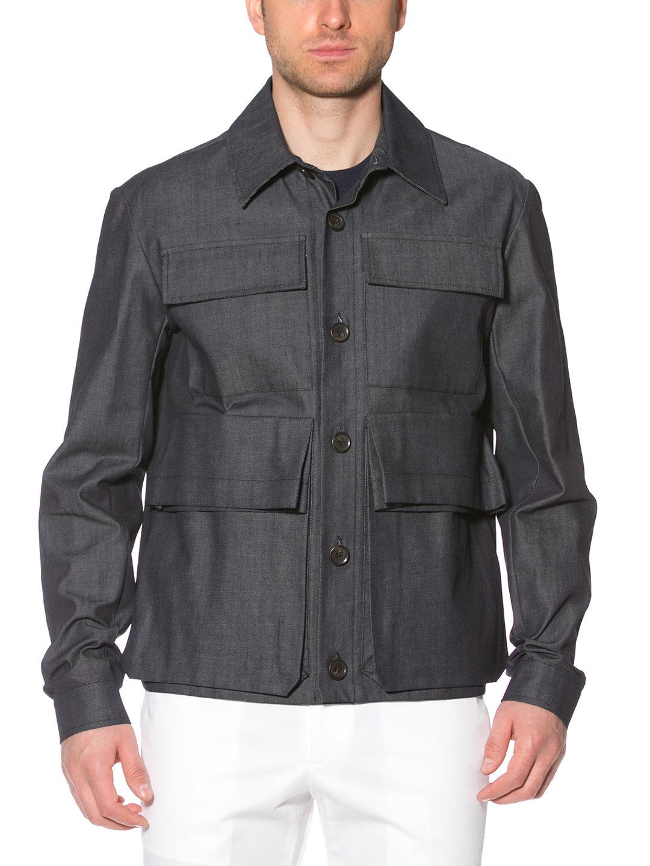 【80%OFF】4ポケット シャツデザイン ジャケット ネイビー 48 ファッション > メンズウエア~~ジャケット