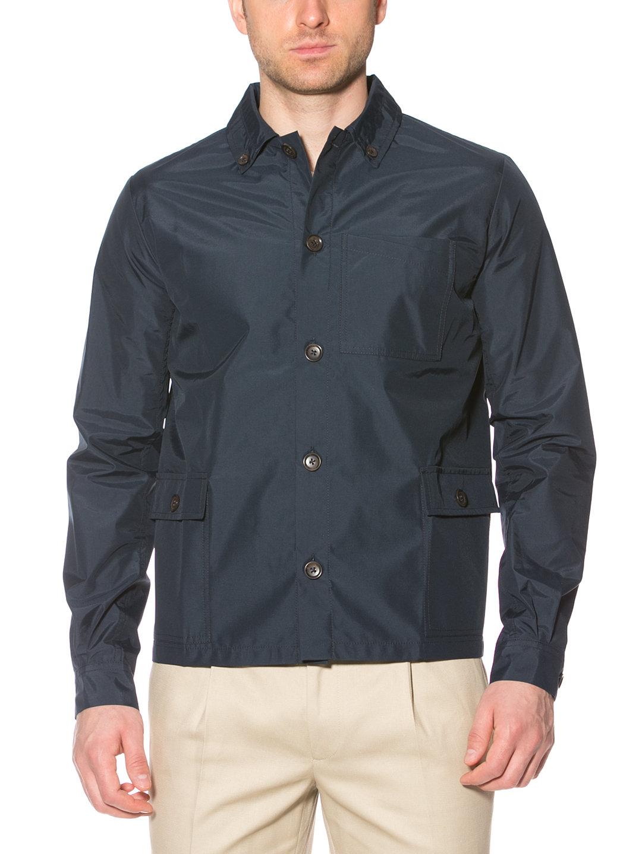 【80%OFF】アウトポケット シャツデザイン ジャケット ネイビー 44 ファッション > メンズウエア~~ジャケット