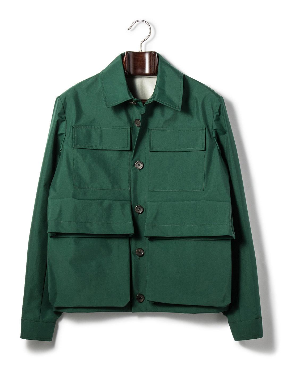 【80%OFF】4ポケット シャツデザイン ジャケット グリーン 46 ファッション > メンズウエア~~ジャケット