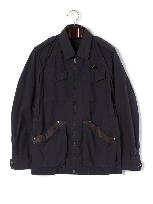 【80%OFF】スエード使い ダブルジップ コート ネイビー l ファッション > メンズウエア~~ジャケット