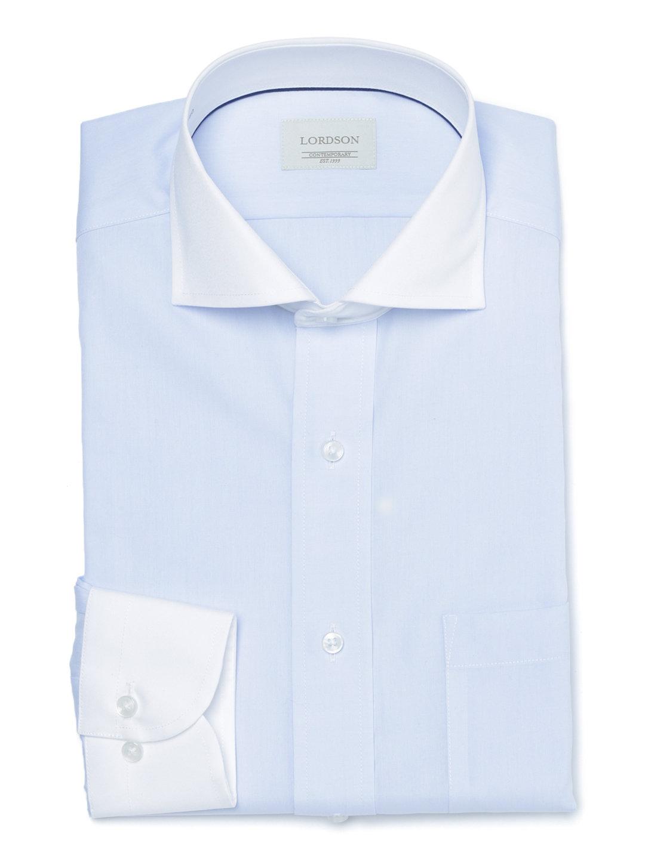 【50%OFF】カッタウェイ 長袖シャツ ブルー 41-80 ファッション > メンズウエア~~その他トップス