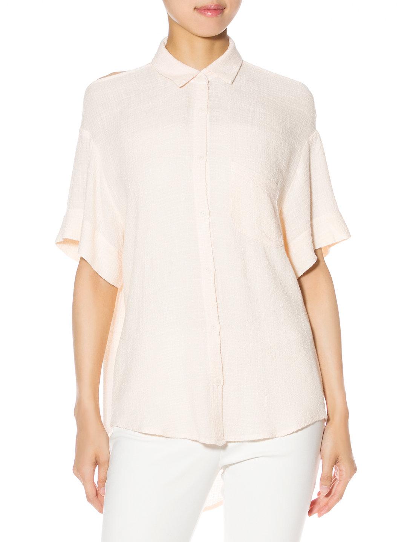 【77%OFF】KHLOE バックオープン デザインシャツ ピーチ l ファッション > レディースウエア~~その他トップス