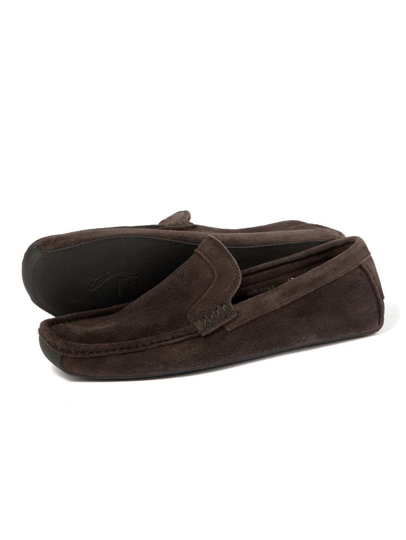 【80%OFF】スエード ローファー ダークブラウン 42 ファッション > 靴~~メンズシューズ