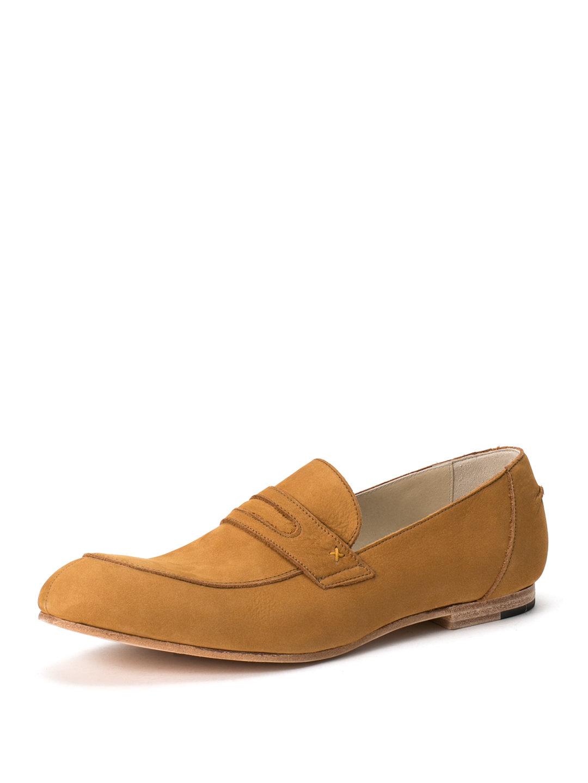 【40%OFF】レザー ローファー キャメル 44 ファッション > 靴~~メンズシューズ