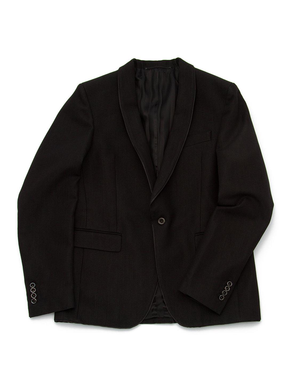 【70%OFF】ショールカラー テーラードジャケット ブラック 48 ファッション > メンズウエア~~スーツ