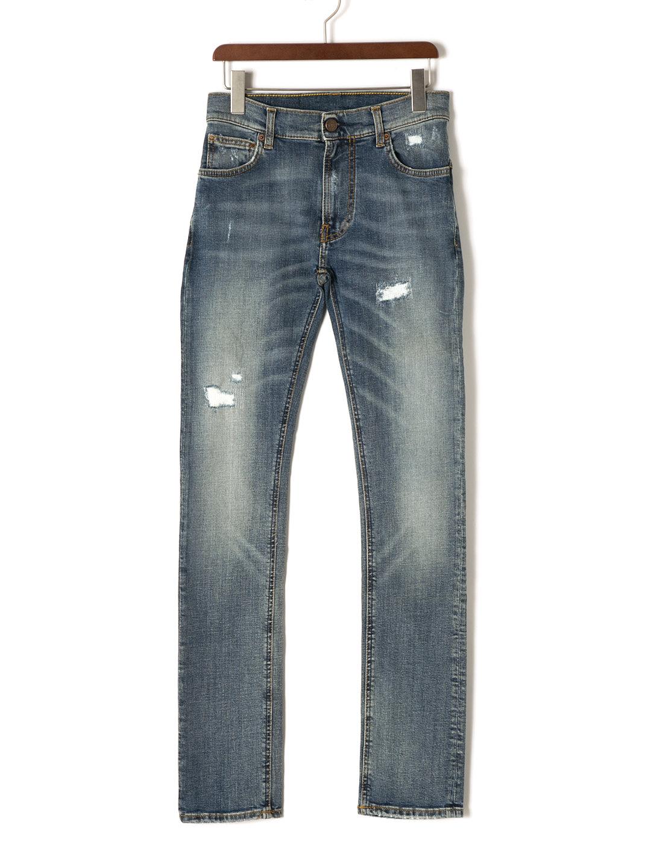 【80%OFF】BOLT DENIM10 ダメージ加工 デニム インディゴ 29 ファッション > メンズウエア~~パンツ
