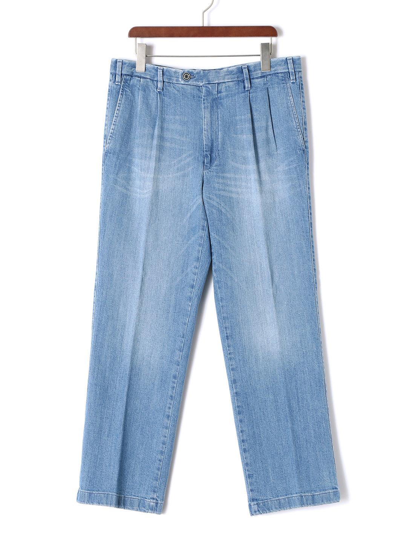 【70%OFF】ウォッシュ加工 デニム ライトブルー 44 ファッション > メンズウエア~~パンツ