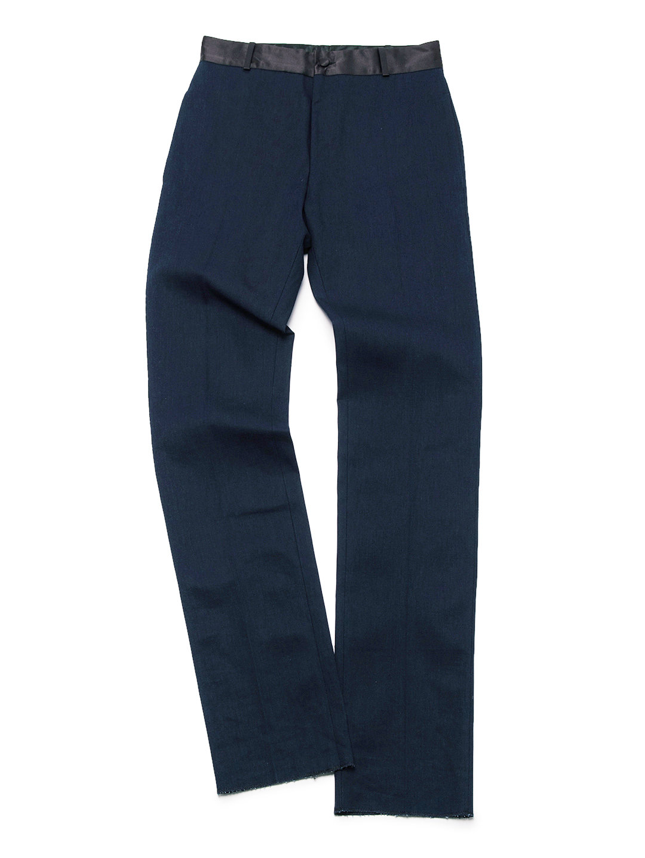 【70%OFF】ウエスト切替 パンツ ネイビー 44 ファッション > メンズウエア~~パンツ