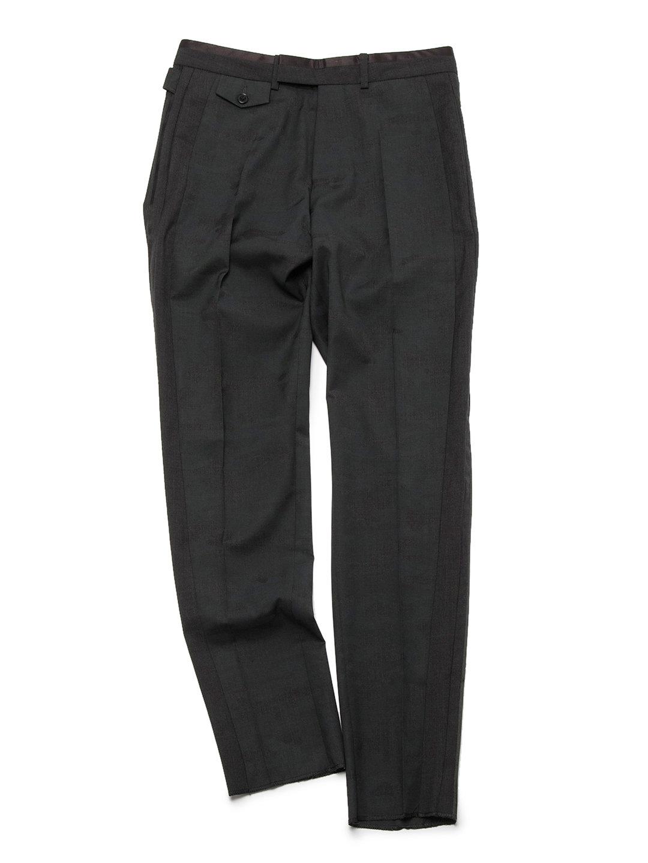 【70%OFF】側章 センタープレス パンツ ブラック 46 ファッション > メンズウエア~~パンツ