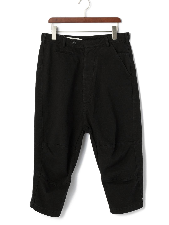 【70%OFF】バックベルト クロップド サルエルパンツ ブラック s ファッション > メンズウエア~~パンツ