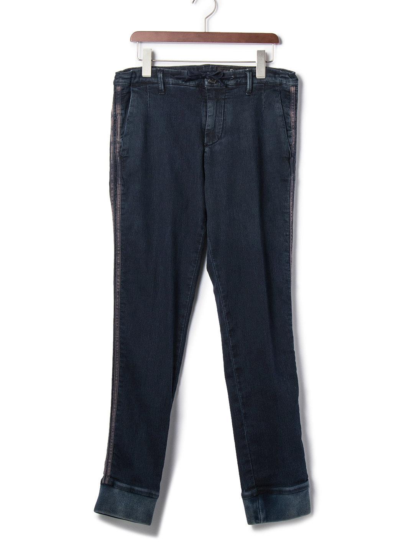 【70%OFF】TITO BF テーパードデニム ネイビー m ファッション > メンズウエア~~パンツ